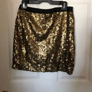 Oak and Fort gold sequin skirt!